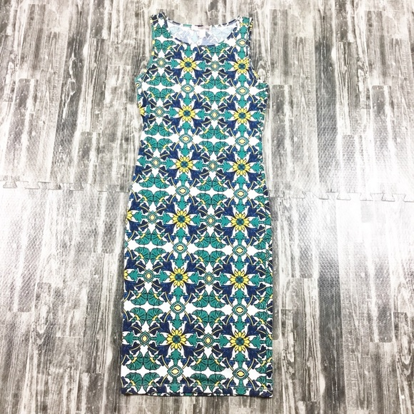 Forever 21 Dresses & Skirts - Forever 21 Dress Body Con Green Blue Size Small